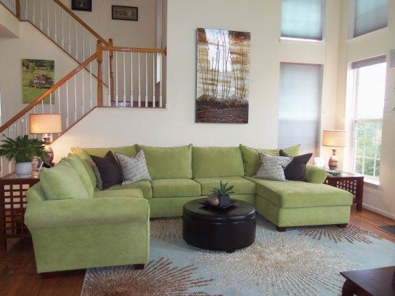 Sectional sofa in Great Room